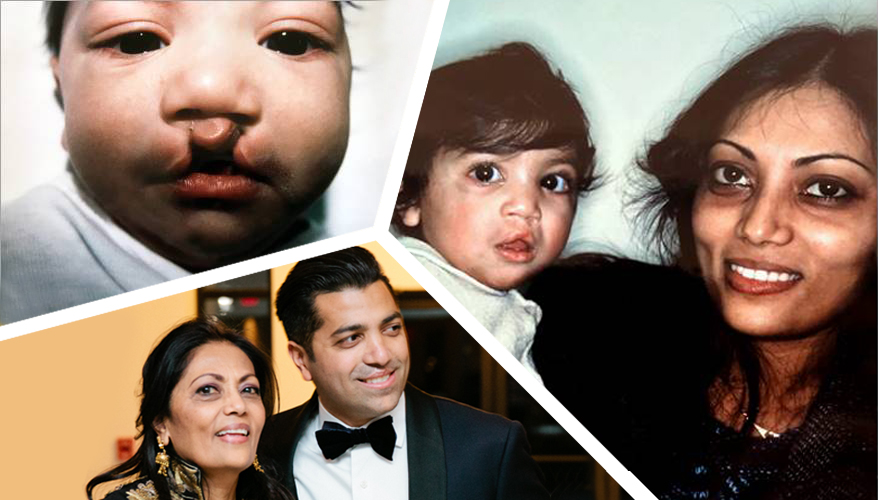 Saumil and Varsha Mehta - Son and Mother Mission Smile Fund Raisers